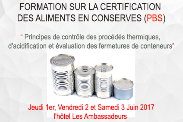 Formation sur la certification des aliments en conserves (pbs)