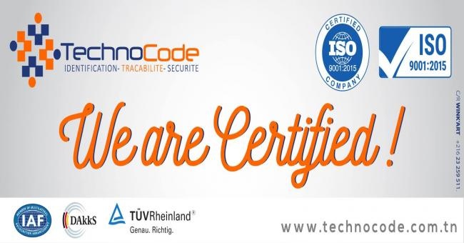 CERTIFICATION ISO 9001 V 2015