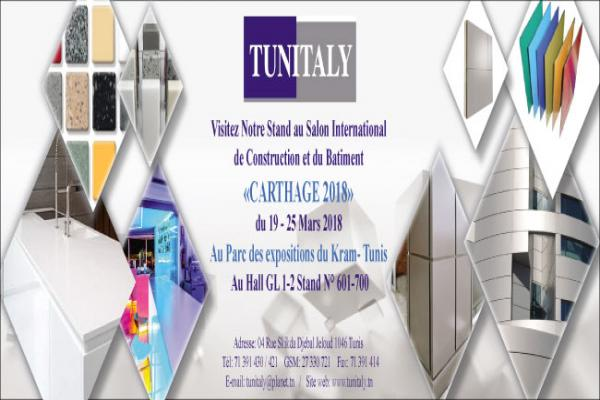 TUNITALY participe au salon International de Construction et du Bâtiment  Carthage 2018