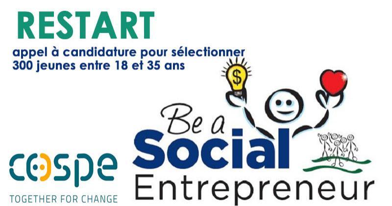 Projet Restart: Sélection de 300 jeunes porteurs d'initiatives dans le Social Business
