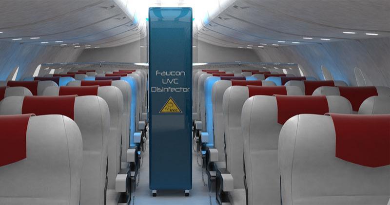 Faucon UVC Disinfector: Une nouvelle arme pour désinfecter les cabines  d'avions