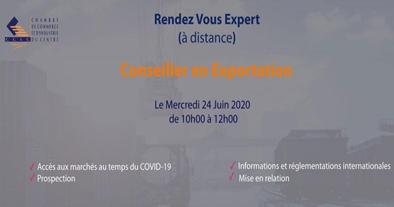 CCIC organise une séance Rendez-vous Expert à distance 24 juin 2020