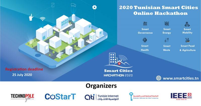 Hackathon Smart Cities 2020 :  Le passage au digital des villes tunisiennes
