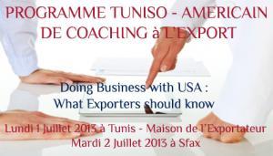 Programme tuniso amricain de coaching lexport 2012 2014 for Chambre de commerce sfax