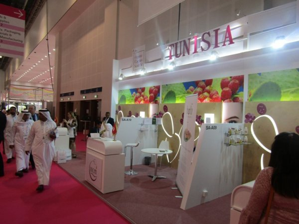 L'huile de figue de barbarie biologique Tunisien au salon Beautyworld Dubai