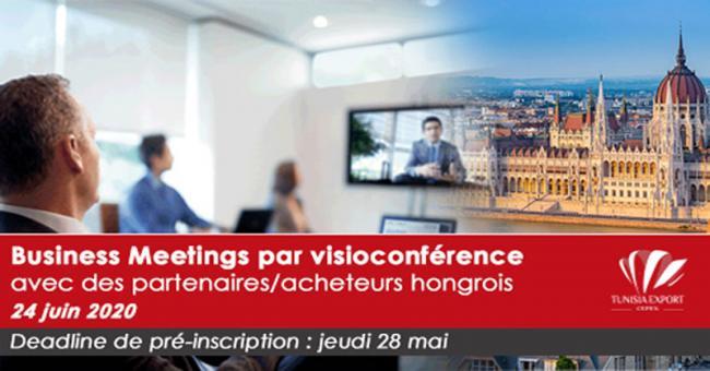 Le Cepex organise un Business Meetings Tuniso-Hongrois par Visioconférence le 24 Juin 2020
